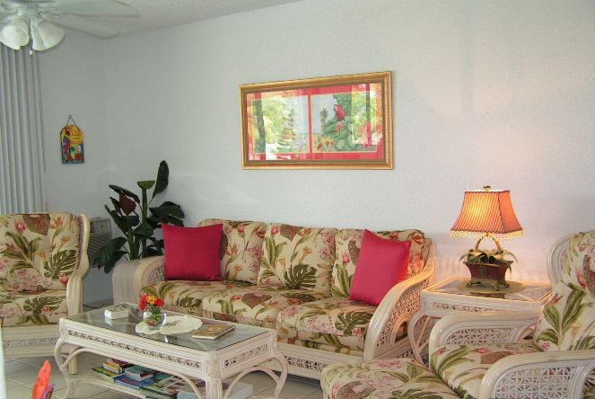 Fully furnished living and dining areas