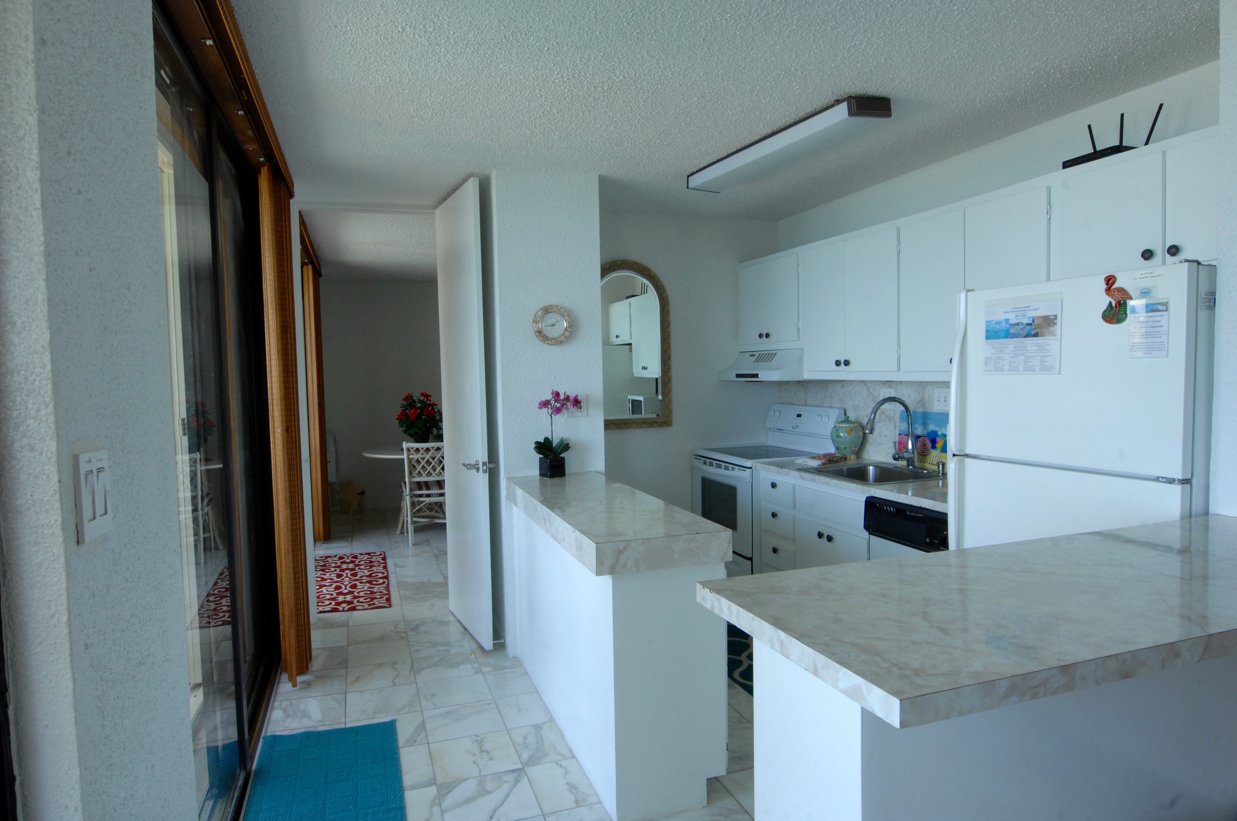 Fully equipped, oceanfront kitchens